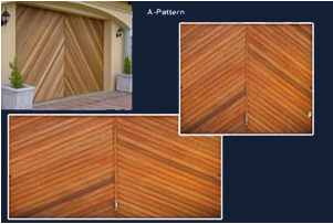 A-Pattern Meranti Tip Up Garage Door