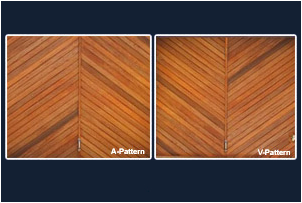 A- & V-Pattern Meranti Tip Up Garage Doors